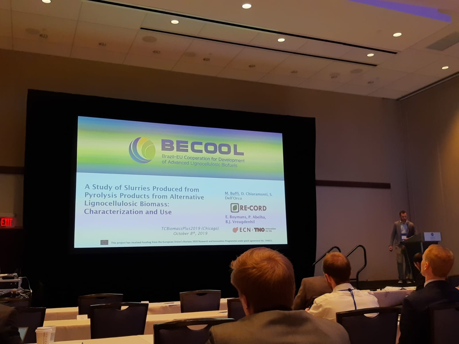 BECOOL Project presented last 9th October at TC Biomass Plus 2019 Conference in Chicago